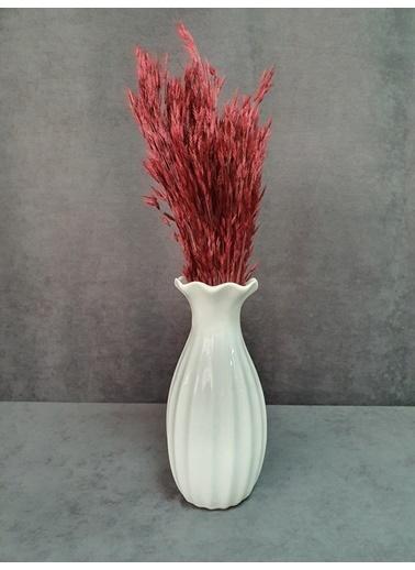 Kuru Çiçek Deposu Kuru Çiçek Yulaf Otu Demeti 50 Cm Yeşil   Kırmızı